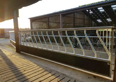 made to order cattle feed barriers custom